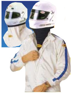 nomex face mask and racing helmet